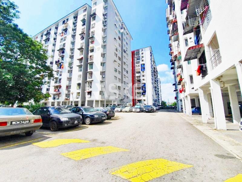 Apartment for Sale 3r1b 657 sqft Freehold at Blok 17, Taman Teratai Mewah, Jalan Langkawi, Setapak, Kuala Lumpur